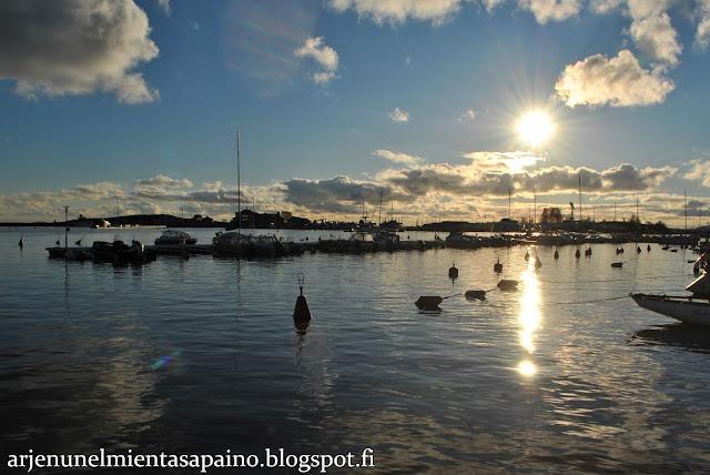 Helsinki, Kaivopuisto, meri, ranta, lokakuu, aurinko, valokuvaus
