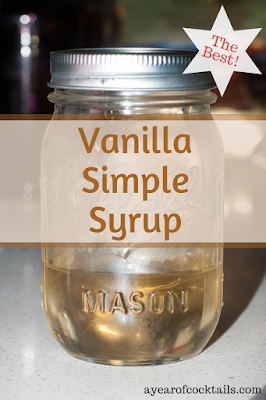 Vanilla Simple Syrup, great for cocktails and cooking!