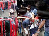 Ngeri Hian, Ini Foto-foto Kecelakaan Yang Tewaskan Pasaribu dan Sitohang, Dan Korban Patah Kaki