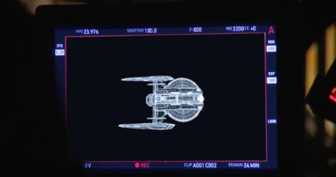 Versione schematica di una nave della flotta. Probabilmente la USS Shenzhou della nuova serie Star Trek Discovery - TG TREK: Notizie, Novità, News da Star Trek