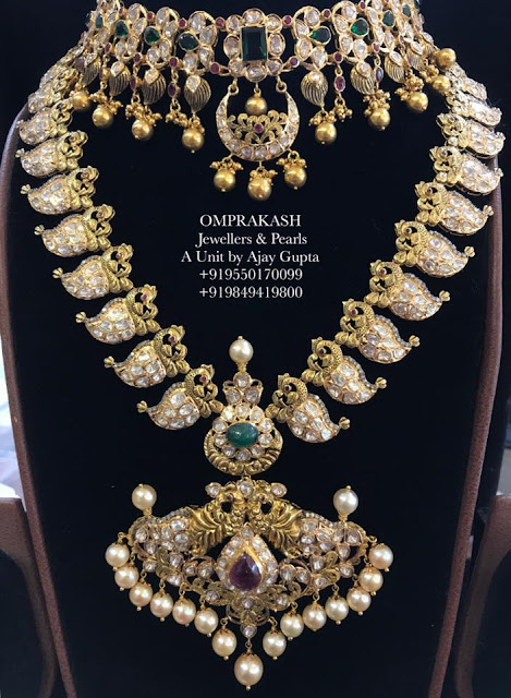Peacock Mango Haram by Omprakash Jewellers