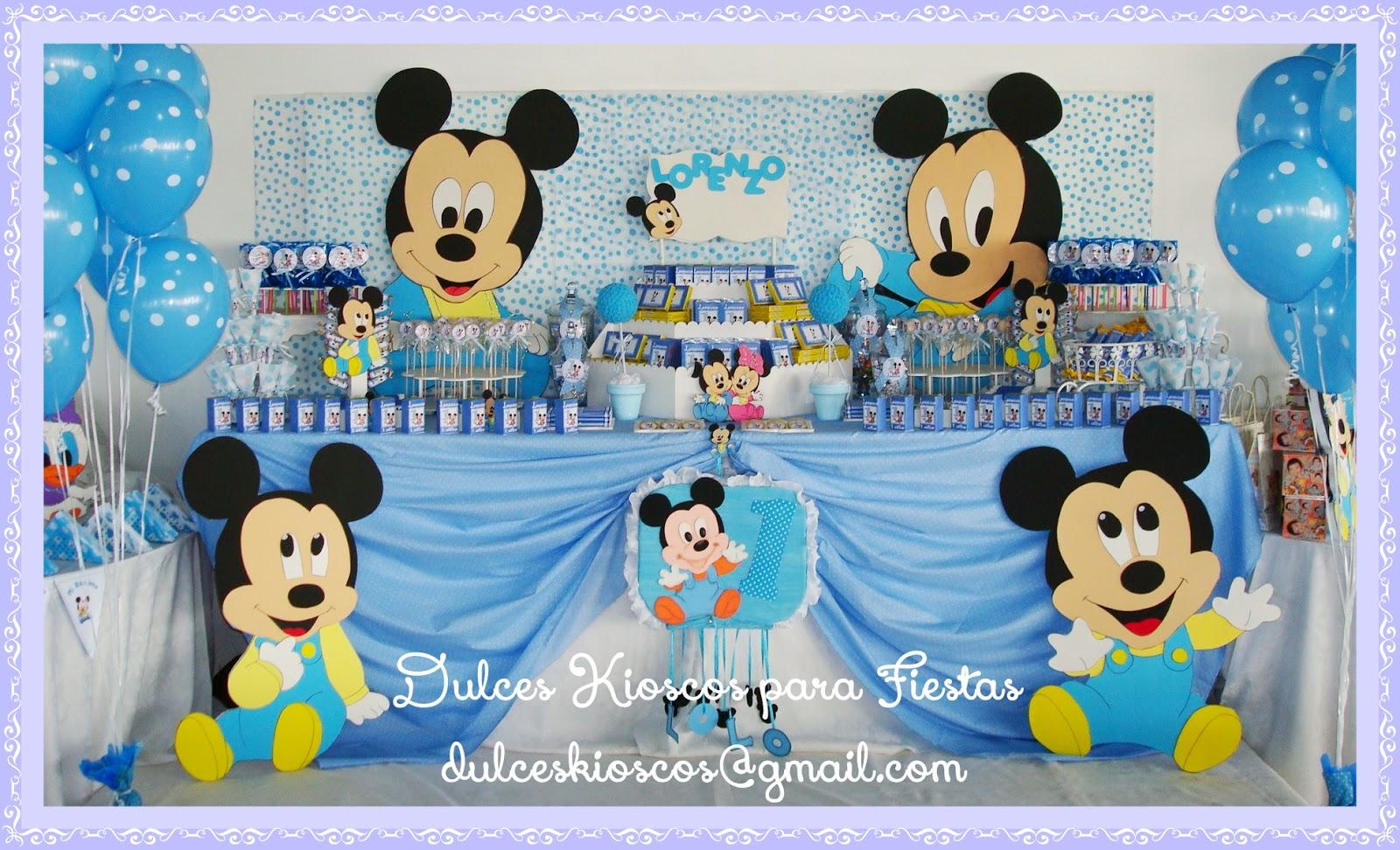 Dulces Kioscos Para Fiestas Tematica Mickey Bebe Ambientacion