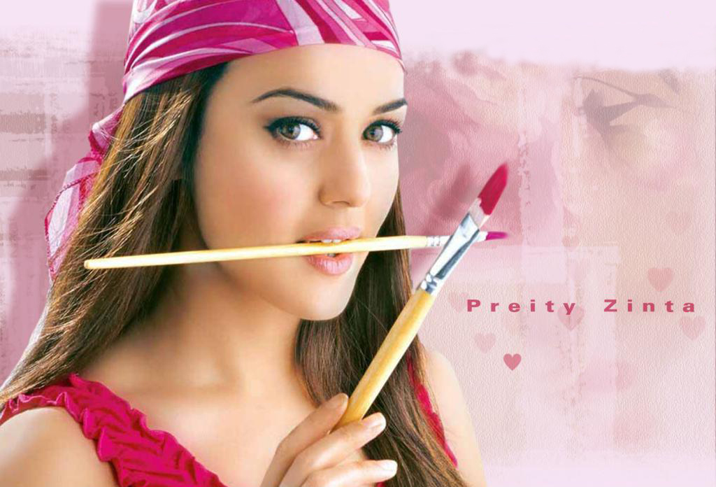 Hot And Beautiful Preity Zinta Wallpaper  Huge Collection -1828