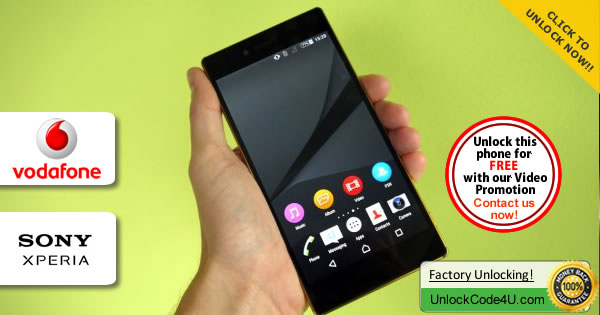 Factory Unlock Code Sony Xperia Z5 Spectre from Vodafone