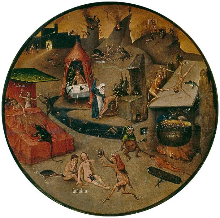 El Bosco - Mesa de los pecados capitales - El infierno