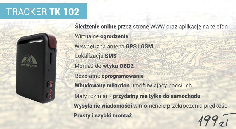 Specyfikacja produktu: TRACKER TK 102