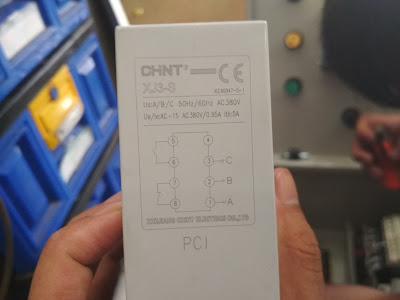 Cara Wiring Phase Failure Sequence Protector CHINT XJ3-S