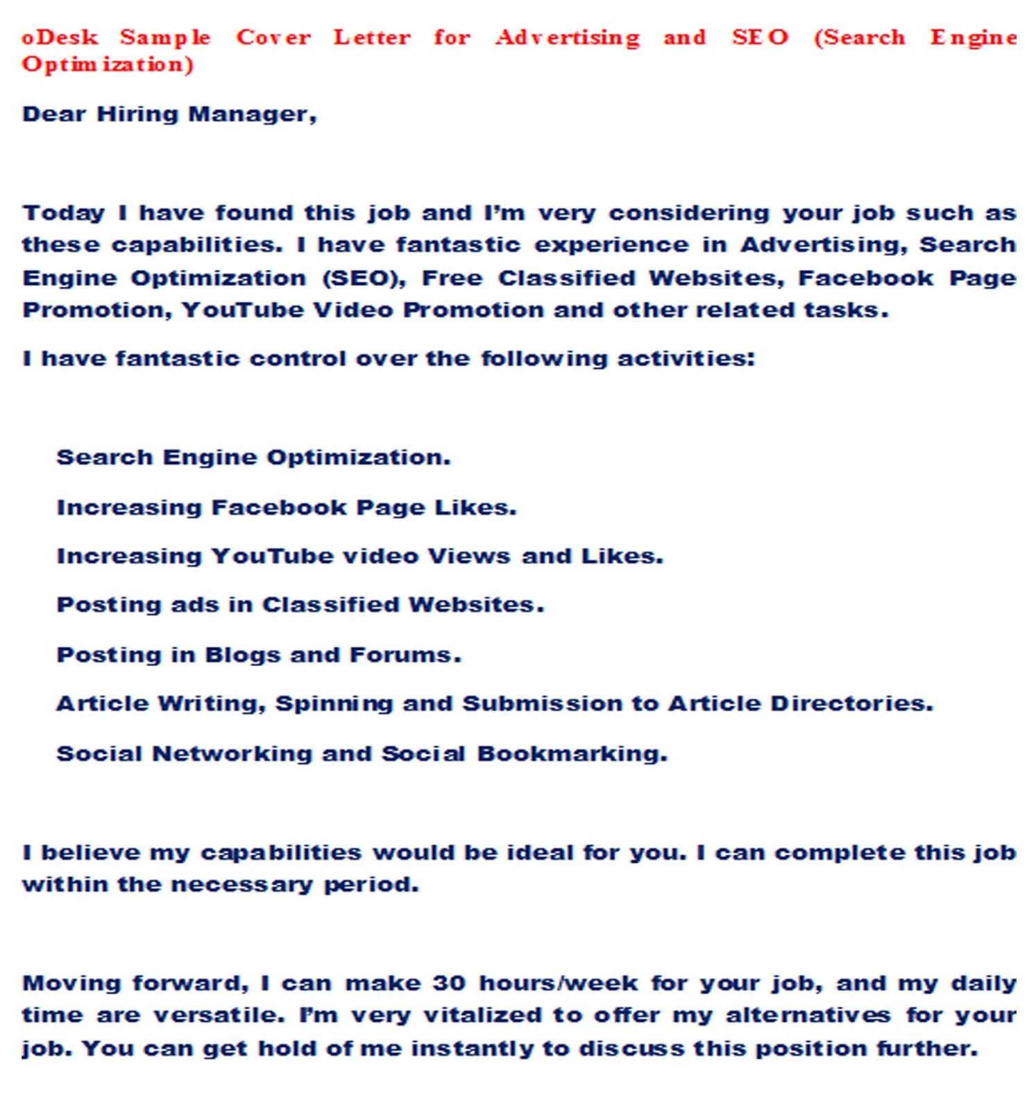 Cover Letter Odesk Photoshop