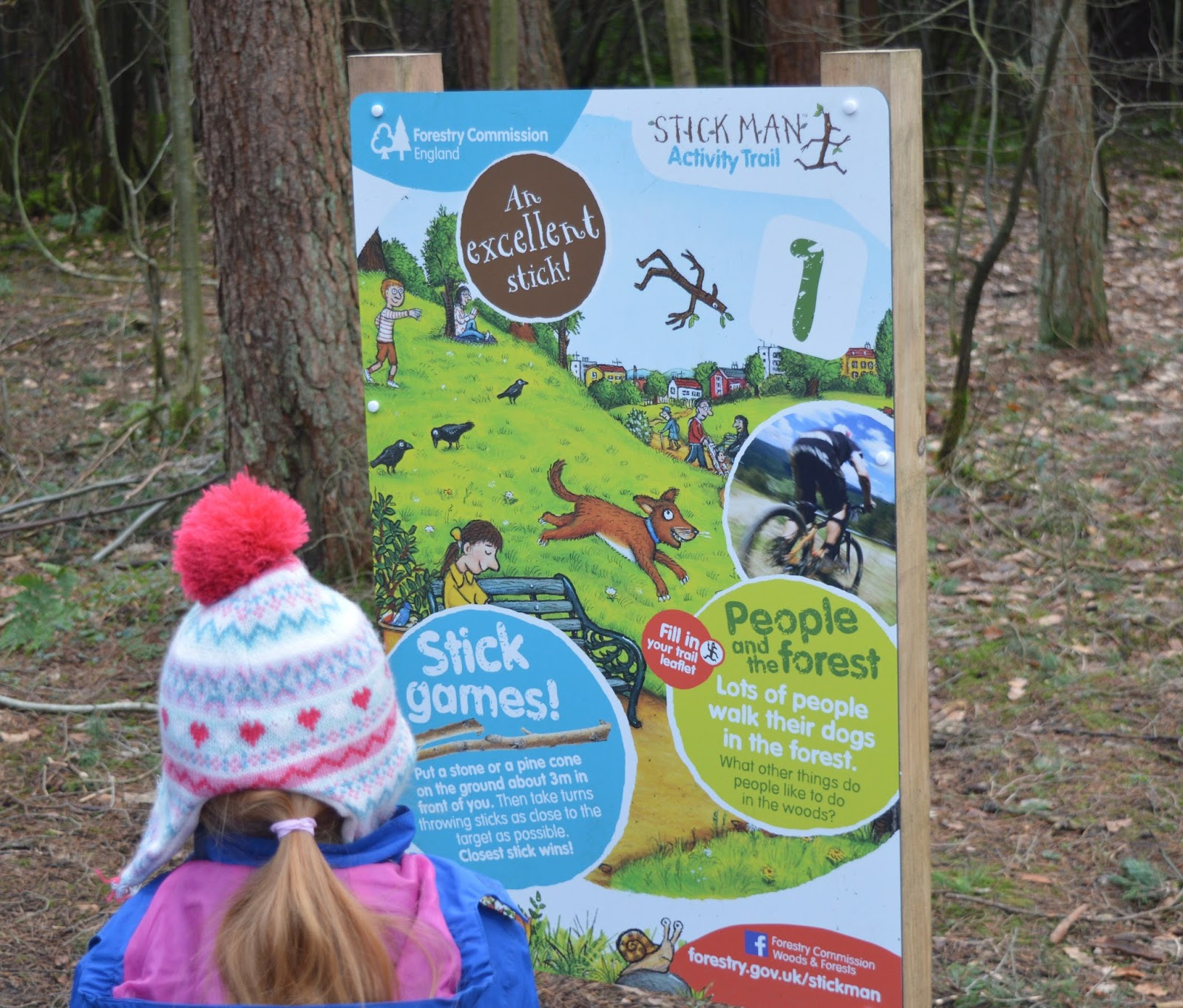 Stick Man Trail at Hamsterley Forest in Durham