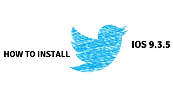 Twitter iOS 9.3.5 on iPhone 4s