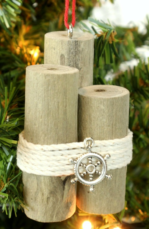 Nautical Pilings Ornaments