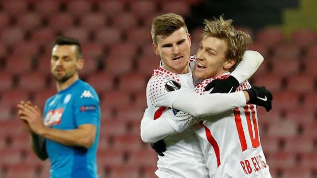 Liga Europa: Leipzig Hajar Napoli 3-1 di San Paolo