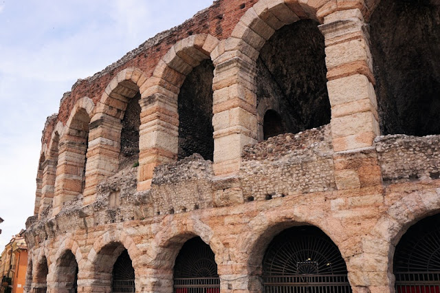 Closer Picture of Roman Arena at Verona