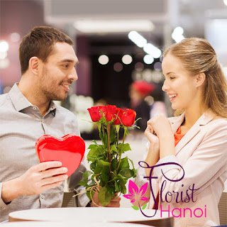 Giving Valentine's day flower Hanoi online