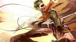 Tapeta: Eren Yaeger, główny bohater serialu Attack on Titan