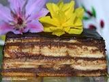 Tarta de Galletas Rellena de Chocolate y Flan