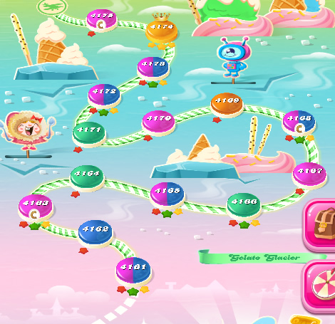 Candy Crush Saga level 4161-4175