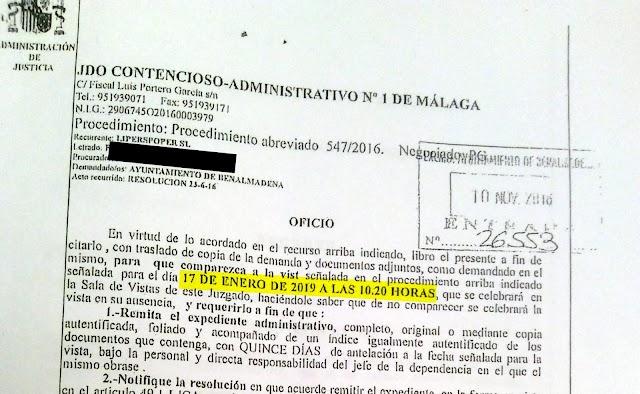 El juicio contra el Ayuntamiento de Benalmádena por las obras ilegales del entorno de la torre vigía de Torremuelle se celebra mañana