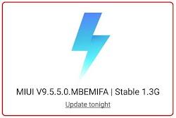 Apa yang baru di MIUI V9.5.5.0 MBEMIFA
