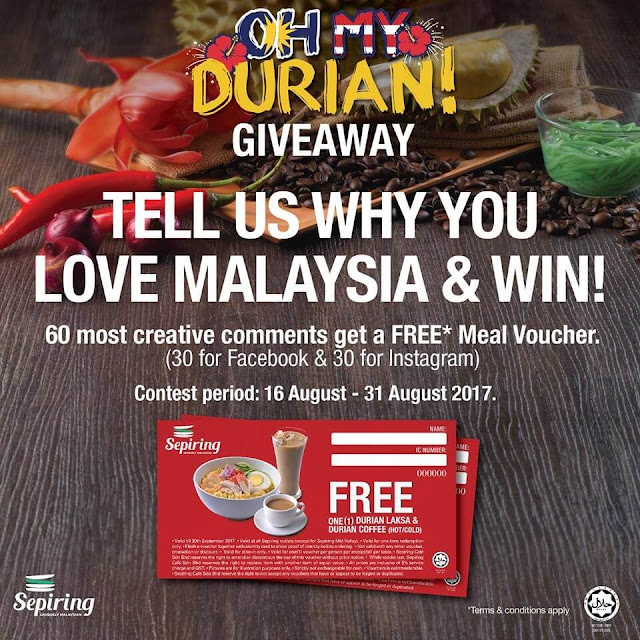 Sepiring Restaurant OH MY DURIAN! Promotion For August To September 2017