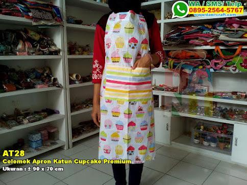 Celemek Apron Katun Cupcake Premium
