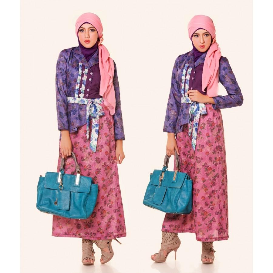 Model Gamis Batik Modern Untuk Remaja Muslimah 01f445d46b