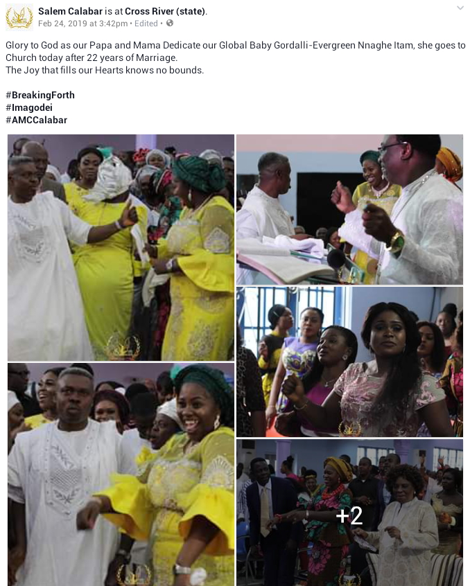 Photos: Nigerian pastor and wife welcome their first child after 22 years of marriage