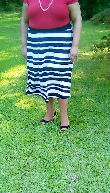 Tucking in a midi skirt