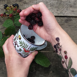 Blackberry Tattoo by Alice Draws The Line.co.uk