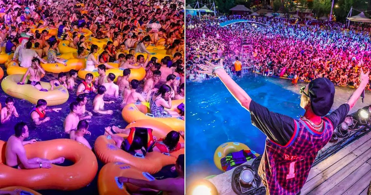Pictures Show Thousands Gathered In Wuhan Water Park As Lockdown Is Lifted