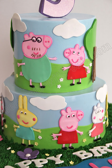 peppa pig cake template free - celebrate with cake peppa pig cake