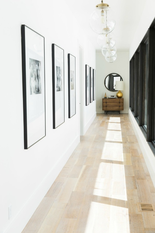 oversized photos in hallway