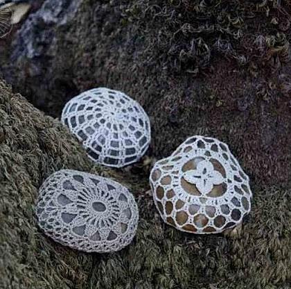 Patron de Crochet para Piedras.Decoracion