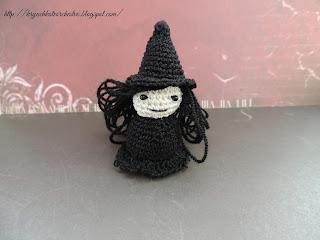 вязание крючком, вязаные игрушки, Creepy Arena, амигуруми, young witch