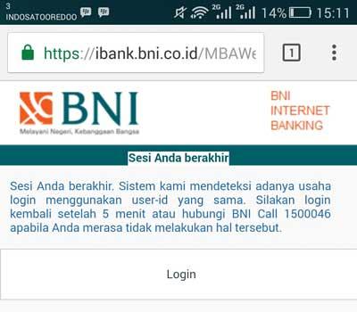 Solusi Mengatasi Masalah Login BNI Internet Banking