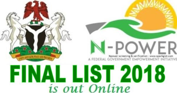 2018 Npower Final Selection Lists Is Out  | See How To Check Npower Final List Here | Npower Final Selection Lists For 2017-2018 Is Out | Check Npower List 2018