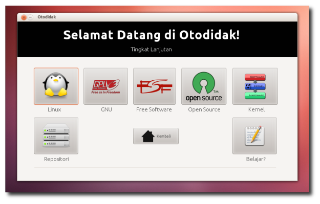Otodidak, Aplikasi Belajar Linux Untuk Pemula