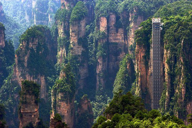 Bailong en China - ascensores increíbles