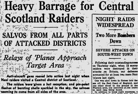 15 March 1941 worldwartwo.filminspector.com Glasgow Herald Clydebank Blitz