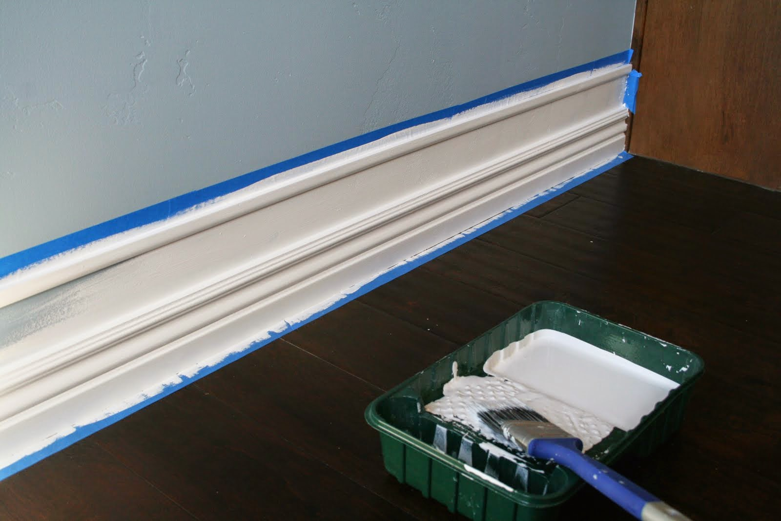 Faux Tall Baseboards