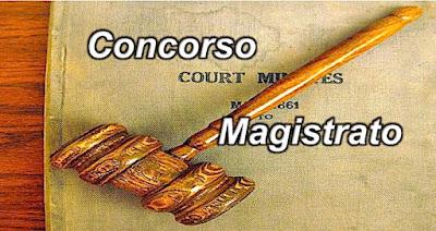 Concorso e lavoro per posti di magistrato