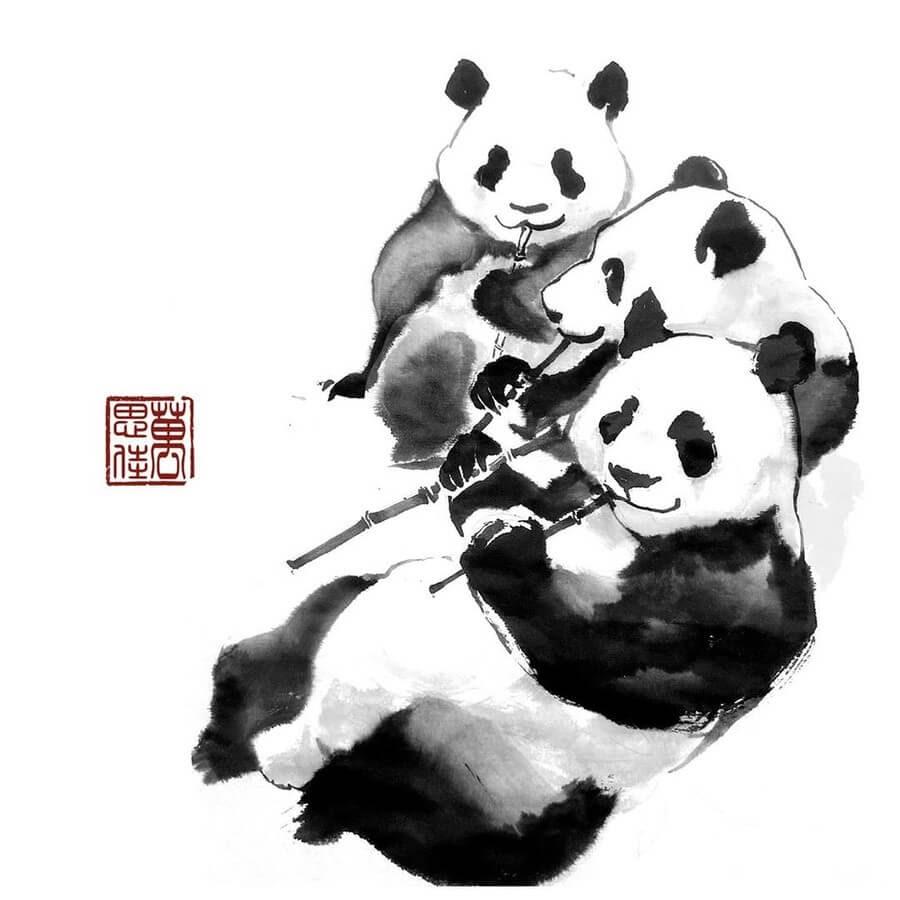 12-Pandas-Eating-Dirk-Swan-www-designstack-co