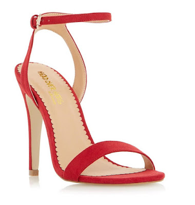 Dune London red barely there high heeled sandals