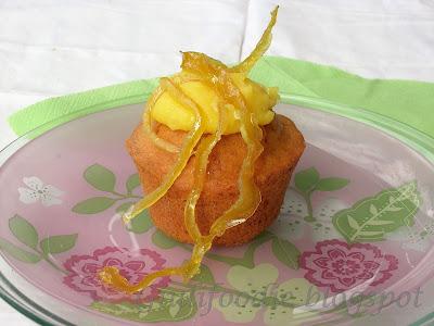 muffin, carote, crema, limone, limoncello, zeste