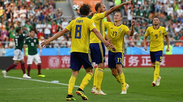 Sweden brush aside Mexico to top table and seal progress to knock-out stages as Group F winners