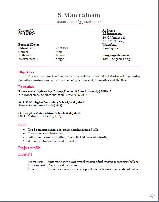 amazing example of resume for fresh graduate information