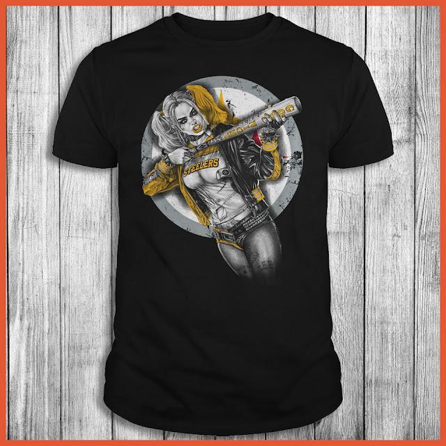 Pittsburgh Steelers Harley Quinn T-Shirt