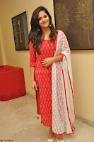 Anasuya Bharadwaj in Red at Kalamandir Foundation 7th anniversary Celebrations ~  Actress Galleries 007.JPG