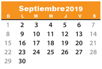 Calendario De Septiembre 2019 Para Imprimir Animado.Calendario 2019 Para Descargar Imprimir Y Tener Contigo
