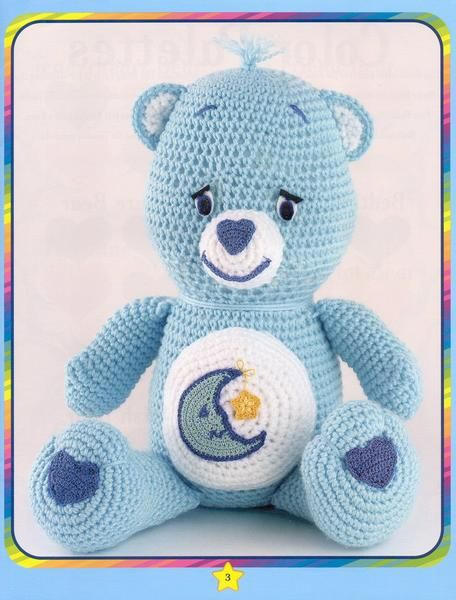 Urso da camiseta listrada | Bichinhos de croche, Amigurumi de ... | 600x456